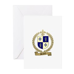 BEAUDRY Family Crest Greeting Cards (Pk of 10)