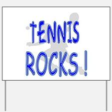 Tennis Rocks ! Yard Sign