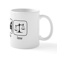 Eat Sleep Law Small Mugs