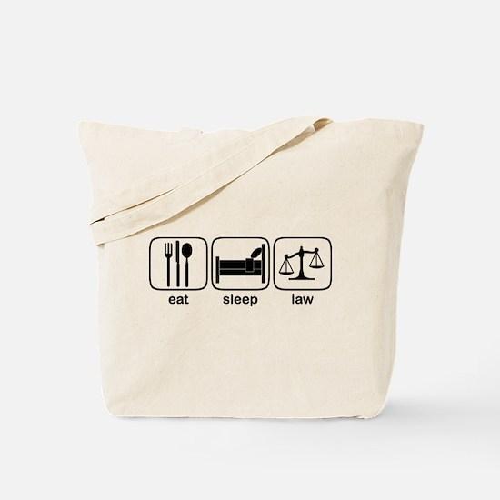 Eat Sleep Law Tote Bag