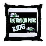 The Trailer Park King Throw Pillow