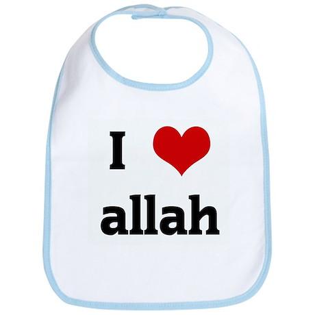 I Love allah Bib