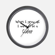 When I grow up I want to be a Cutler Wall Clock