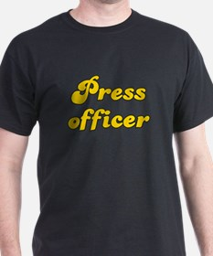Retro Press officer (Gold) T-Shirt