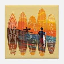 Pure Surfing Tile Coaster