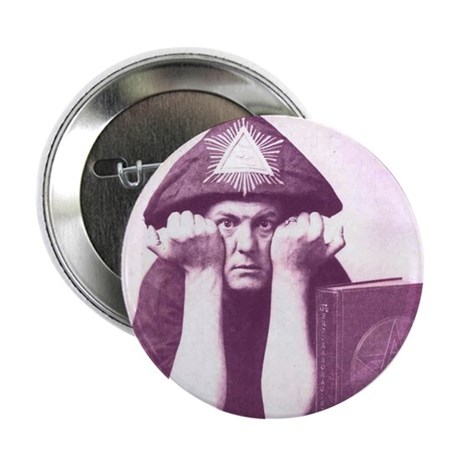 """Aleister Crowley 2.25"""" Button (100 pack)"""