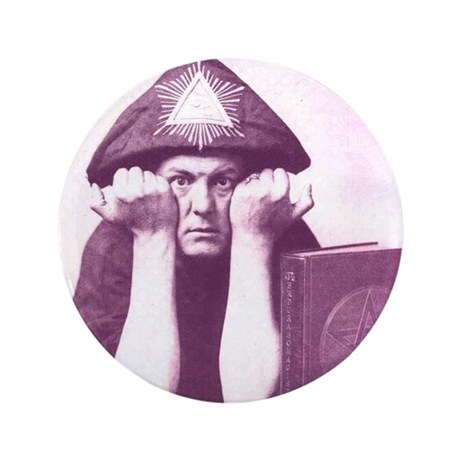"Aleister Crowley 3.5"" Button"