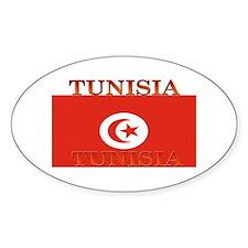 Tunisia Tunisian Flag Oval Decal