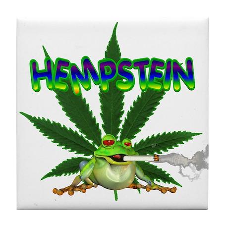 Hempstein frog Tile Coaster