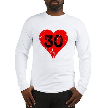 30th Birthday Heart Long Sleeve T-Shirt
