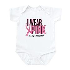 I Wear Pink For My Godmother 10 Infant Bodysuit