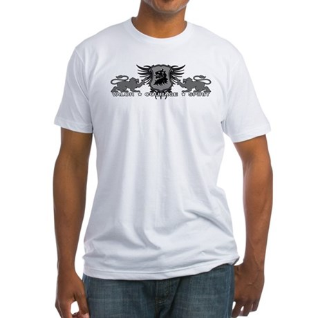 Valor Courage Spirit Fitted T-Shirt