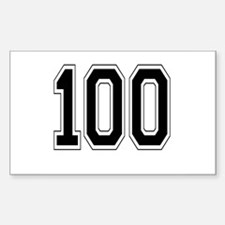 100 Rectangle Decal