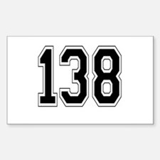 138 Rectangle Decal