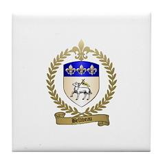 BELLIVEAU Family Crest Tile Coaster