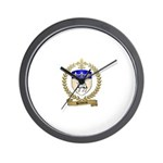 BELLIVEAU Family Crest Wall Clock