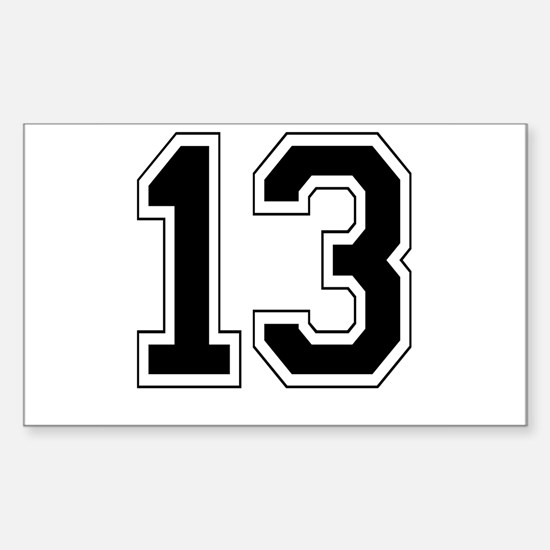 13 Rectangle Decal