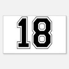 18 Rectangle Decal