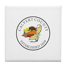 CALVERT-COUNTY-SEAL Tile Coaster