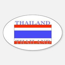 Thailand Thai Flag Oval Decal