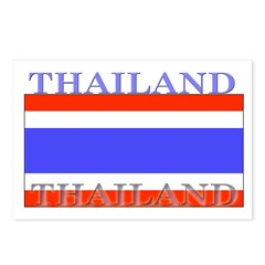 Thailand Thai Flag Postcards (Package of 8)