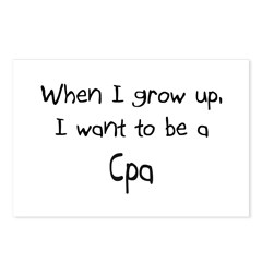 When I grow up I want to be a Cpa Postcards (Packa