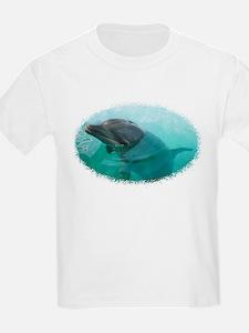 Dolphin Face - Kids T-Shirt