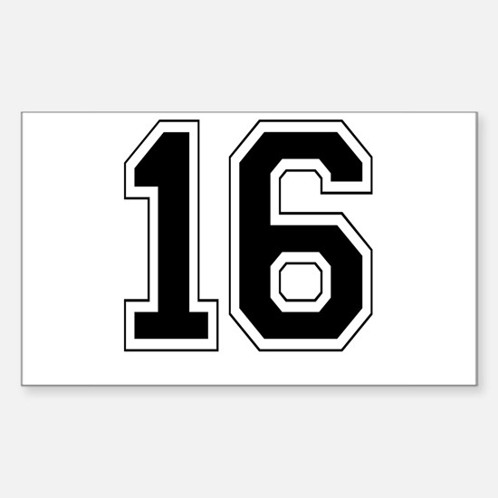 16 Rectangle Decal