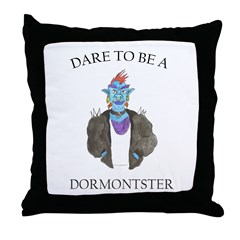 Dare to Be (DORMONT POOL) Throw Pillow