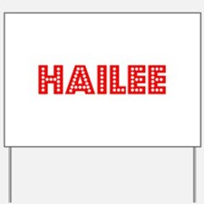 Retro Hailee (Red) Yard Sign
