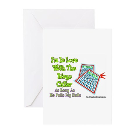 Bingo Caller Balls Greeting Cards (Pk of 10)