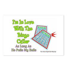 Bingo Caller Balls Postcards (Package of 8)