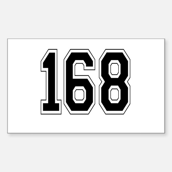 168 Rectangle Decal
