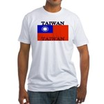Taiwan Taiwanese Flag Fitted T-Shirt