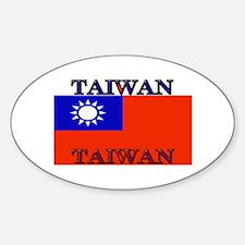 Taiwan Taiwanese Flag Oval Decal