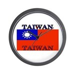 Taiwan Taiwanese Flag Wall Clock