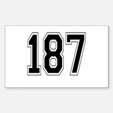 187 Rectangle Decal
