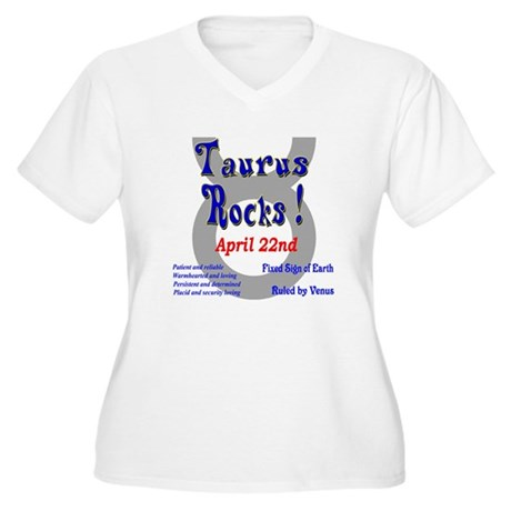 Taurus April 22nd Women's Plus Size V-Neck T-Shirt