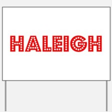 Retro Haleigh (Red) Yard Sign