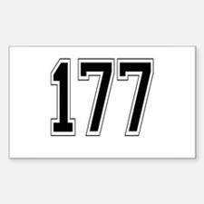 177 Rectangle Decal