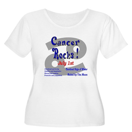Cancer July 1st Women's Plus Size Scoop Neck T-Shi