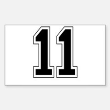 11 Rectangle Decal
