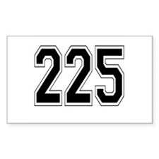 225 Rectangle Decal