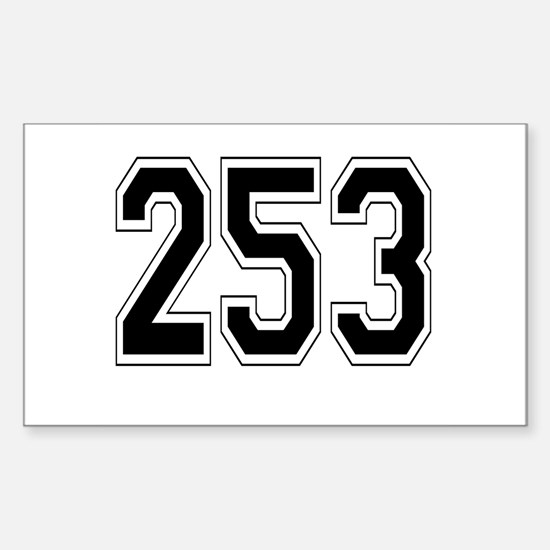 253 Rectangle Decal
