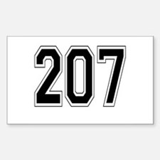 207 Rectangle Decal