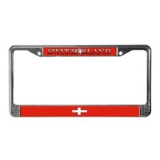 Switzerland Swiss Flag License Plate Frame