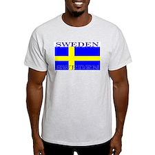 Sweden Swedish Flag Ash Grey T-Shirt