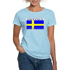 Sweden Swedish Flag Women's Pink T-Shirt