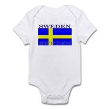 Sweden Swedish Flag Infant Creeper