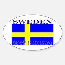 Sweden Swedish Flag Oval Stickers